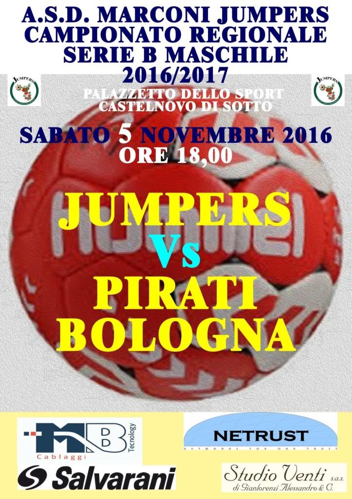 Locandina serie B Jumpers Pirati 051116p