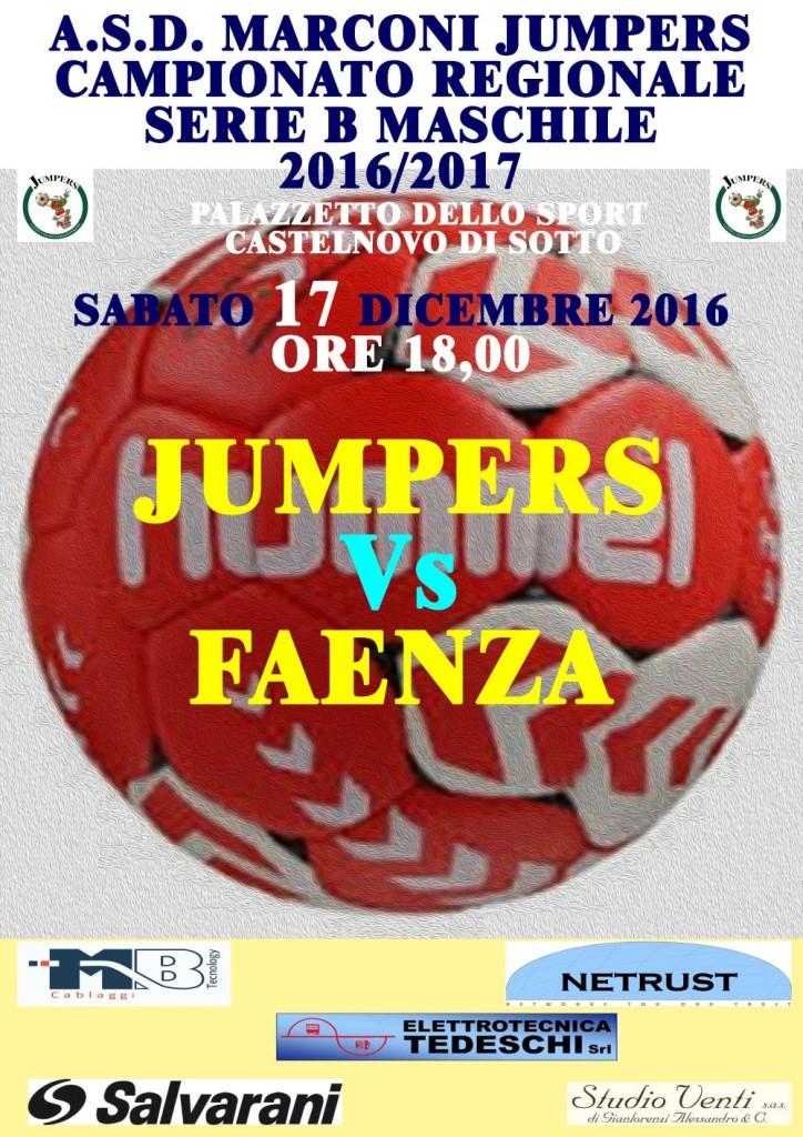 Locandina Partita Jumpers Faenza 171216 p