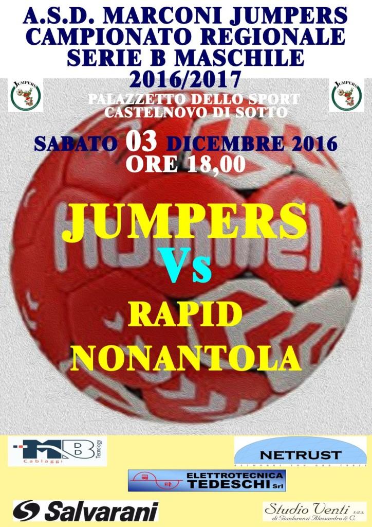 Locandina Partite Jumpers Nonantola 031216p